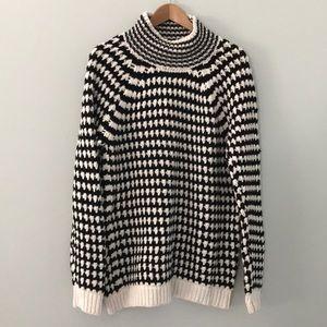 NWT LOFT chunky knit houndstooth sweater size xl